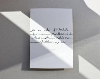 Postcard  |  Glücklichsein