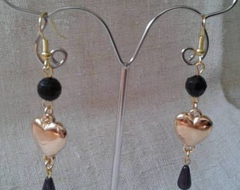 "Earrings ""pretty golden heart"""