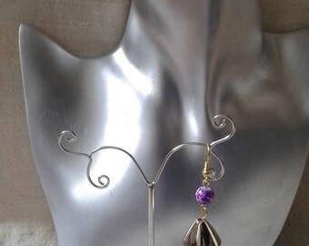 """Earrings """"big violet"""""""
