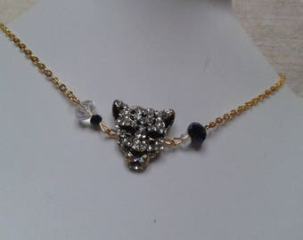 """""""black and white Panther"""" Choker necklace"""