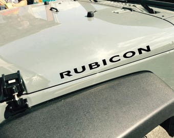JEEP RUBICON Hood replacement Vinyl Decals Stickers Emblem Logo Graphics
