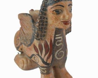 Sphinx sculpture Ancient Greek small statue artifact