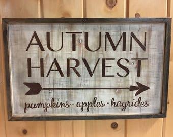 Autumn Harvest Sign
