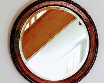 Vintage / antique circular mirror