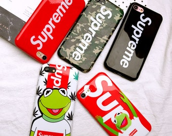 Supreme Custom Apple iPhone X 7/7 Plus 8/8 Plus Phone Box Logo Soft Case