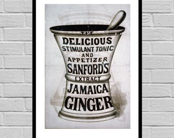 VINTAGE POSTER Antique Apothecary Ad