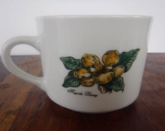 Vintage Botanical Gardens Magnolia Mug Cup Soup (A)