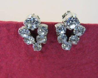 Diamante clip on earrings