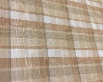 Funky moire plaid from RM Coco  in shades of brown