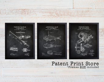 Fishing Patent Prints. Fishing Prints. Fishing Posters. Fathers Day Gift. Gift for Him. Fishing Art. Fishing Wall Art. Fishing Decor. 280