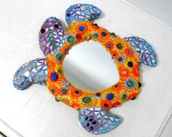 tortue des mers  mosaïque miroir