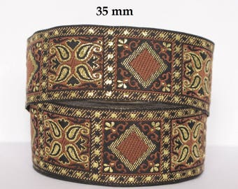 10 m embroideries * style medieval /oriental * 35 mm width