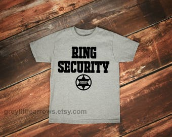 Ring Security // Ring Bearer // Wedding Shirt // Wedding Party Tees // Flower Girl T-Shirt // Toddler // Baby // Child // Bridal Party