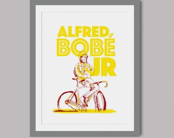 Alfred Bobe Jr hand pulled limited edition screen print of 5 on A3 paper