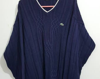 Vintage vintage Lacoste sweater 90-00 Made in France size 6 (L/XL).