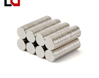 100pcs Disc 8x1mm N50 rare earth strong neodymium magnet NdFeB bulk magnets nickle