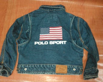 Vintage Polo Sport Ralph Lauren Jacket Vintage Polo Sport Ralph Lauren Kids Denim Jacket