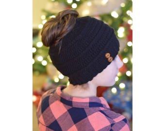 Messy Bun Beanie, Hat Womens, Gift for her, Gift for women, Gift for wife, Gift under 40, gift for girlfriend, gift for girl