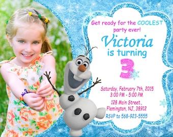 Frozen Olaf Invitation Birthday Party