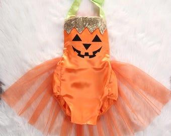 Pumpkin Diva Romper Tutu