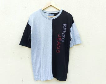 Vintage Kenzo Jeans tshirt embroidery