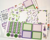 Planner Stickers - Weekly Planner Stickers - Happy Planner Stickers - Day Designer - Functional Stickers - Violet Watercolor Stickers