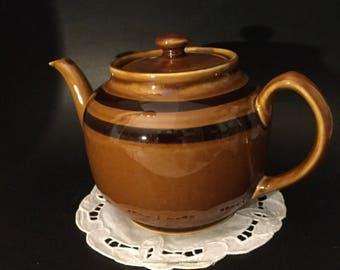 Rare Mid Century Large Sadler Brown Betty Teapot.Extra Large 8 cup Brown Betty Teapot. Extra Large 8 Cup Sadler Teapot.
