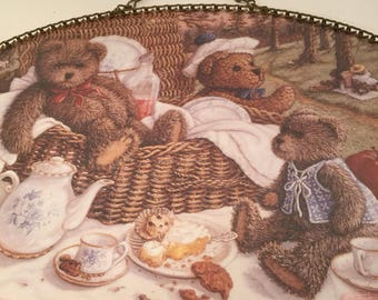Teddy Bear Picnic Wall Hanging