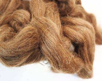 100g Brown Wool, Roving Wool, Low Camel Top, Felting Supplies, Felting Wool, Wet Felting