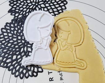 Praying Girl Cookie Cutter and Stamp