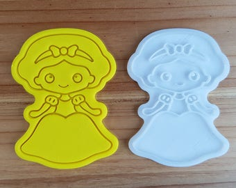 Snow White  Cookie Cutter and Stamp