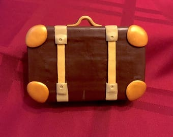 Brown & Copper Suitcase Altered Altoid Tin