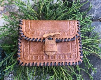 Vintage Mini Wallet For Coins, Mini Purse, Vintage Coin Purse, Leather Wallet, Vintage Accessory, Brown Wallet