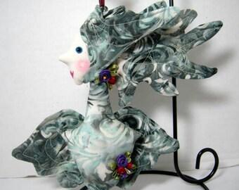 Victorian Swirls Angel Cloth Ornament, WhimsicalJD