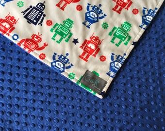 Robot Baby Blanket