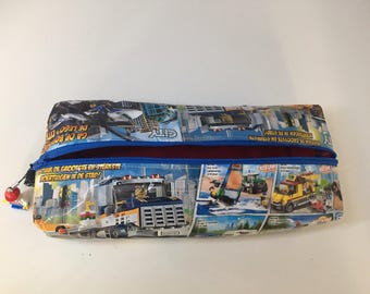 Pencil case Upcycling-LEGO CITY large