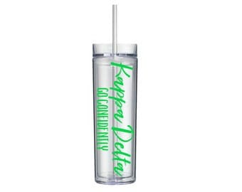 Kappa Delta Tumbler, KD Sorority Gift, Sorority Water Bottle