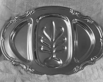 Gorham Silverplate Meat and Vegetable Tray YC1770 c. 1940