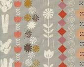 Sunshine Alexia Abegg - Cotton and Steel - Sunshine Collage Grey - Unbleached Quilting Cotton - Desert Theme Fabric - Cactus Fabric