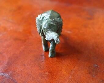 "Shona Sculptures from Zimbabwe, African Art, Verdite Stone, ""Strolling Elephant"", elephant sculpture, Spirit in Stone, green elephant art"