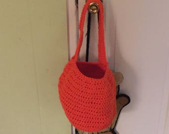 Crocheted Pumpkin Trick or Treat Bag