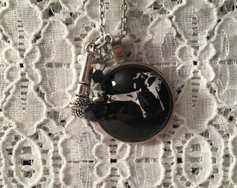 Michael Jackson Charm Necklace/Michael Jackson Jewelry/Michael Jackson Fan/Michael Jackson/Music Jewelry/King of Pop Necklace