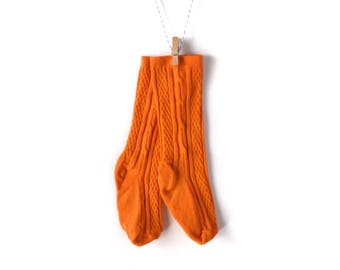 Jack-O-Lantern Orange Knee-High Stockings/Socks for Baby/Toddler