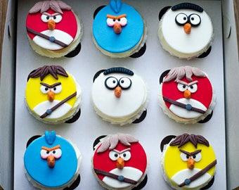 Angry Birds cupcake topper 9 Edible fondant