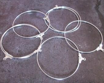10 hoop earrings silver 40 mm