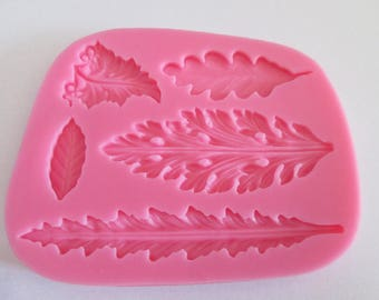 Mold silicone pattern 5 tree leaves