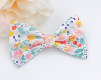 Bow headband - baby girl bows - nylon - clips - infant / toddler / child bows - flora jane