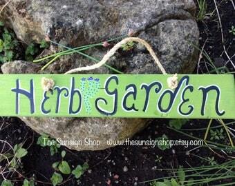 Herb Garden wooden sign, outdoor sign, garden sign, garden decor, herbs