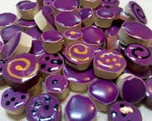 Purple Handmade Ceramic M...