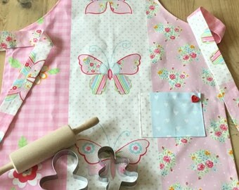 Girls Handmade Butterfly Apron